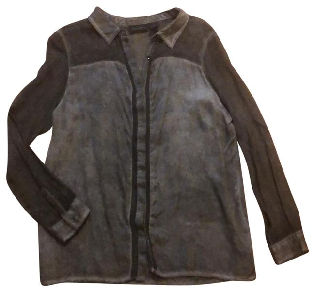 Preload https://img-static.tradesy.com/item/25350757/dkny-charcoal-button-up-blouse-size-10-m-0-1-650-650.jpg