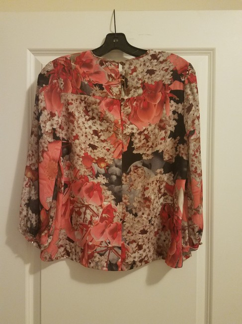 Ted Baker Floral Date Night Spring Fall Silver Hardware Top Pink Image 1