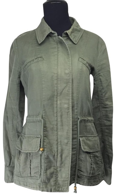 Lucky Brand Cargo Utility Cotton Military Jacket Image 0