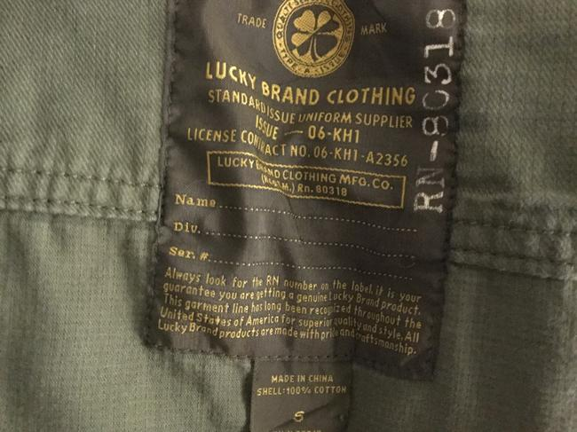 Lucky Brand Cargo Utility Cotton Military Jacket Image 3