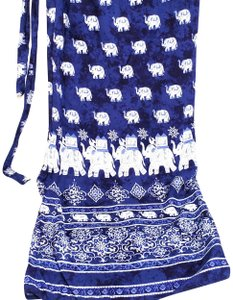 Surf Side Elephant Print Wrap Skirt Cover Up
