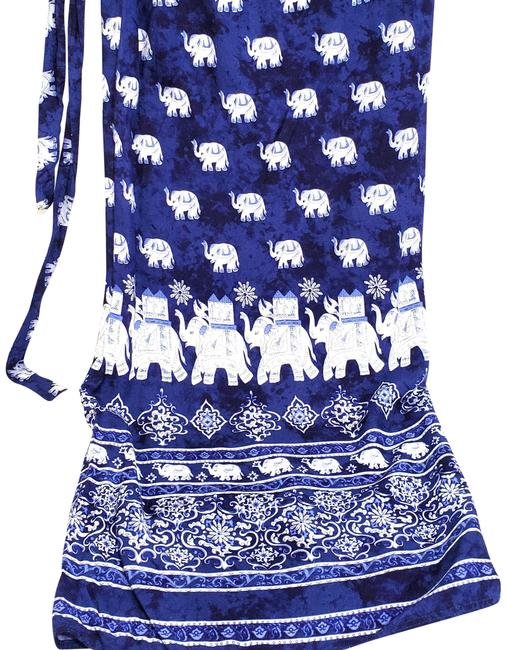 Preload https://img-static.tradesy.com/item/25350784/blue-and-white-elephant-print-wrap-skirt-cover-upsarong-size-os-one-size-0-1-650-650.jpg
