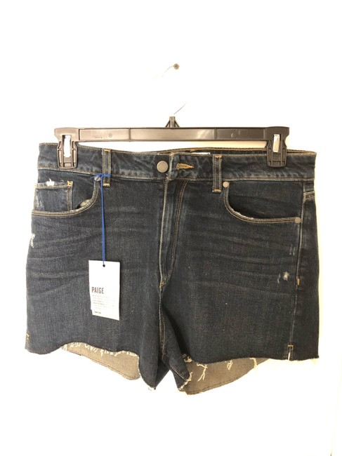 Paige Denim Shorts-Distressed Image 1