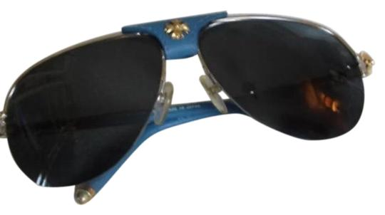 Preload https://img-static.tradesy.com/item/25350936/chrome-hearts-turquoise-and-gold-leather-sunglasses-0-1-540-540.jpg