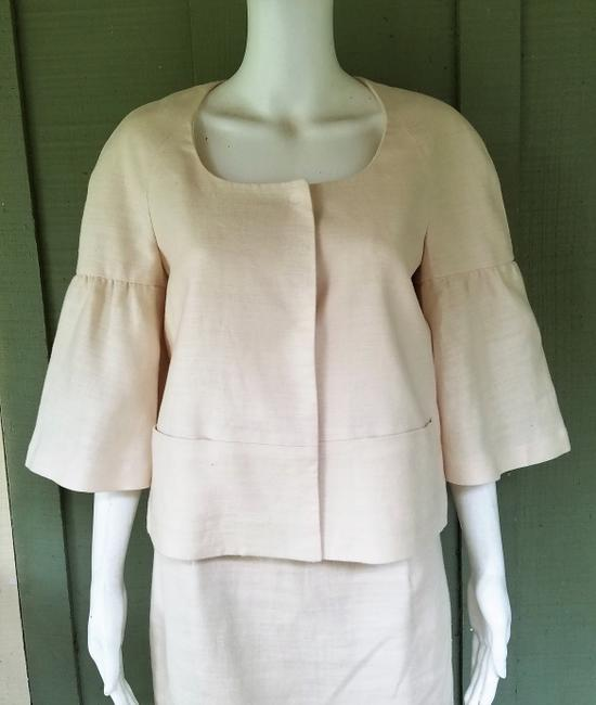 Banana Republic BANANA REPUBLIC Ivory 100% Linen Short Sleeve Skirt Suit S/4 Image 2