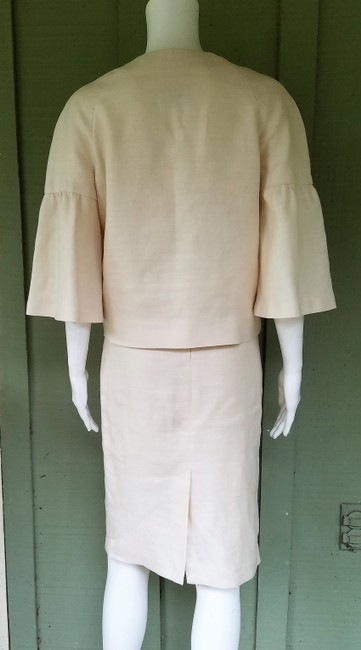 Banana Republic BANANA REPUBLIC Ivory 100% Linen Short Sleeve Skirt Suit S/4 Image 3