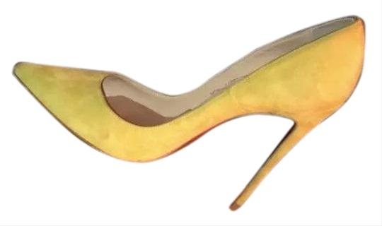 dbc00f93f88 Christian Louboutin Yellow Green So Kate Cubists Suede Pumps Size EU 38.5  (Approx. US 8.5) Regular (M, B) 42% off retail