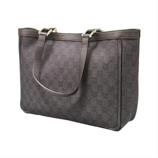 Gucci Women's Denim Abbey Handbag With D Ring Tote in Black Image 2
