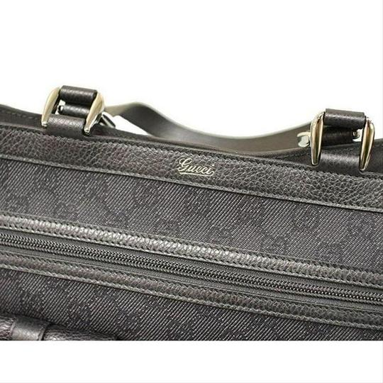 Gucci Women's Denim Abbey Handbag With D Ring Tote in Black Image 6