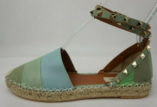 Valentino Green and blue Flats Image 1