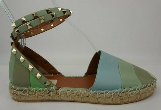 Valentino Green and blue Flats Image 2