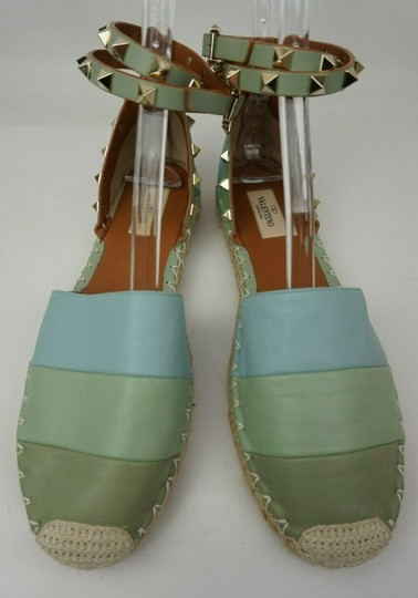 Valentino Green and blue Flats Image 4