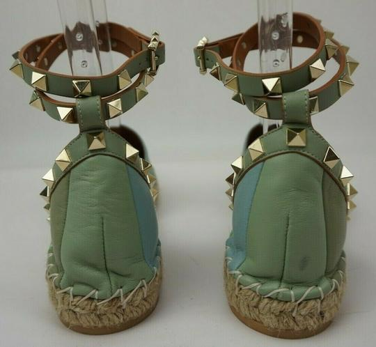 Valentino Green and blue Flats Image 5