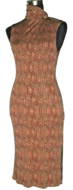 Preload https://img-static.tradesy.com/item/25351304/versace-red-black-beige-gianni-vintage-couture-mid-length-cocktail-dress-size-4-s-0-1-650-650.jpg