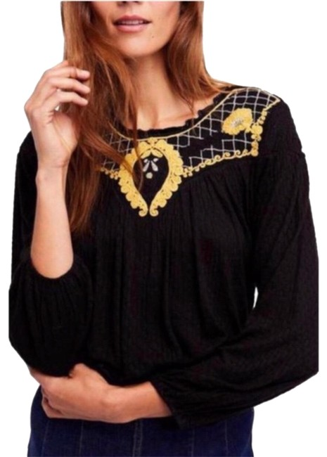 Preload https://img-static.tradesy.com/item/25351311/free-people-black-begonia-embroidered-blouse-size-12-l-0-1-650-650.jpg