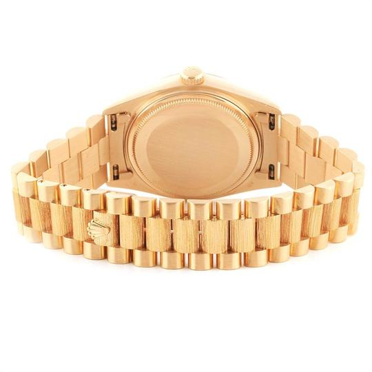 Rolex Rolex President Day-Date 36 Yellow Gold Bark Finish Mens Watch 18078 Image 8