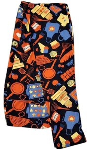 c2293f1f75de2c LuLaRoe black with red, yellow, orange, and blue Leggings