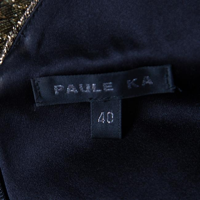 PAULE KA Draped Detail Evening Gown Dress Image 5