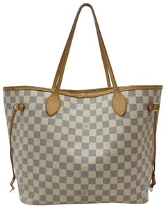 Louis Vuitton Neverfill Neverfold Neverfull Cream Neverfull Azure Tote in white
