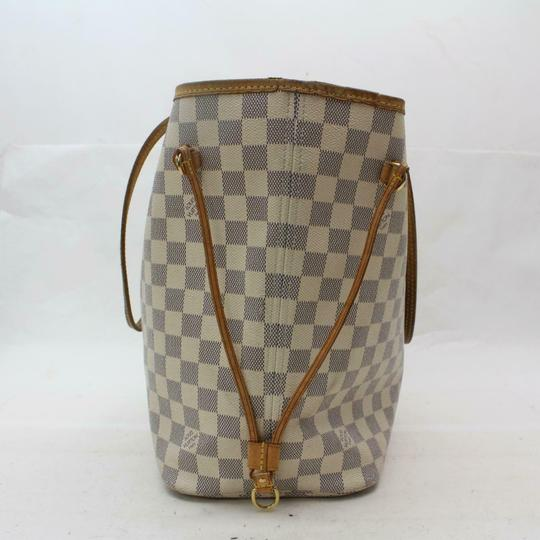 Louis Vuitton Neverfill Neverfold Neverfull Cream Neverfull Azure Tote in white Image 5