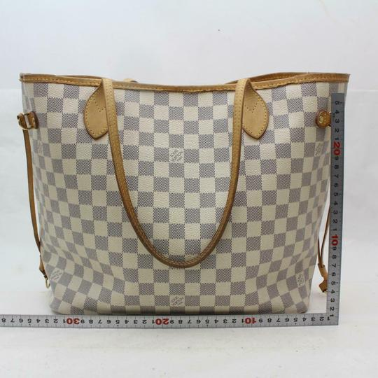 Louis Vuitton Neverfill Neverfold Neverfull Cream Neverfull Azure Tote in white Image 6