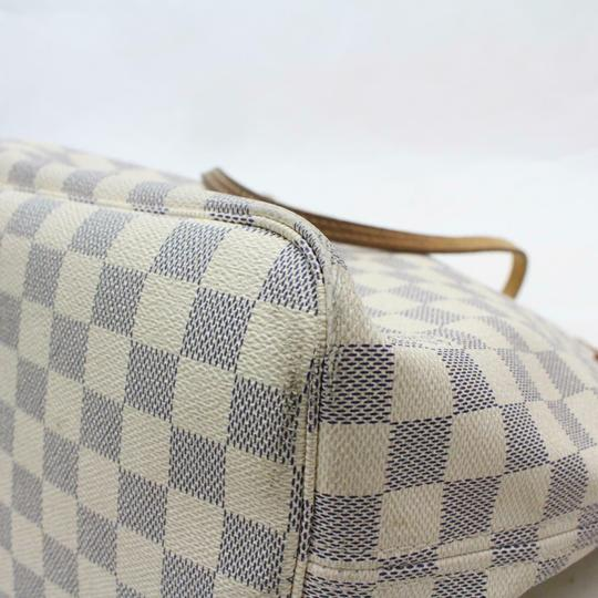 Louis Vuitton Neverfill Neverfold Neverfull Cream Neverfull Azure Tote in white Image 7