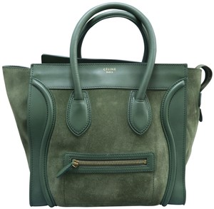 Céline Luggage Mini Tote in Green