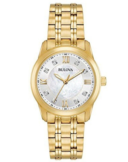 Preload https://img-static.tradesy.com/item/25352933/bulova-gold-women-s-diamond-quartz-tone-mother-of-pearl-dial-97p118-watch-0-0-540-540.jpg