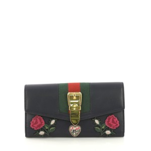 e02fed8ca211 Gucci Gucci Sylvie Continental Wallet Embroidered Leather