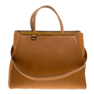Fendi Leather Tote in Yellow