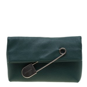 Burberry Leather Green Clutch