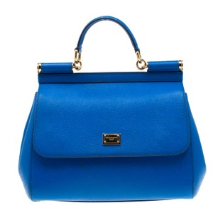 Dolce&Gabbana Leather Tote in Blue