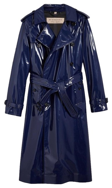 Preload https://img-static.tradesy.com/item/25353858/burberry-blue-laminated-cotton-trench-coat-size-4-s-0-1-650-650.jpg