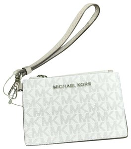 aa4d0d5be54a Michael Kors Michael Kors Jet Set Coin Wallet Wristlet ID Holder Signature  White