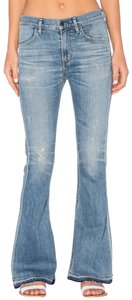 Citizens of Humanity Whiskering Released Hem Distressed Flare Leg Jeans-Distressed