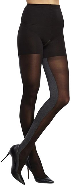 Item - Black/Gray Heathered Contrast Tight-end Women's Size C Hosiery