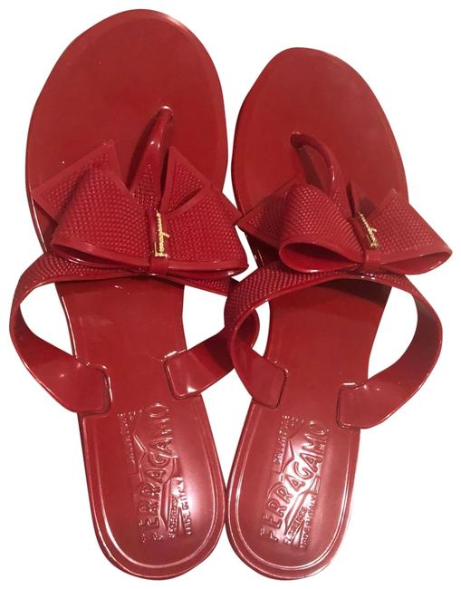 Item - Red Jelly Bali Bow Sandals Size US 5 Regular (M, B)