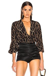 L'AGENCE Top black/gold with tag