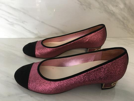 Chanel Patent Patent Leather Ballerina Pink Flats Image 2