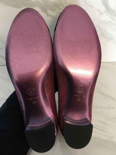Chanel Patent Patent Leather Ballerina Pink Flats Image 6