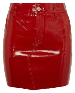 RtA Mini Skirt Red Patent Leather