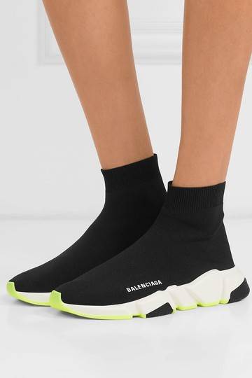 Balenciaga Speed Trainers Sneakers Speed Trainers Black and Neon Yellow Athletic Image 11