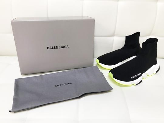 Balenciaga Speed Trainers Sneakers Speed Trainers Black and Neon Yellow Athletic Image 3