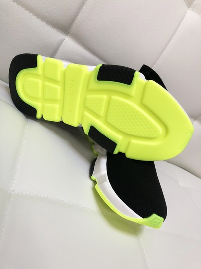 Balenciaga Speed Trainers Sneakers Speed Trainers Black and Neon Yellow Athletic Image 6