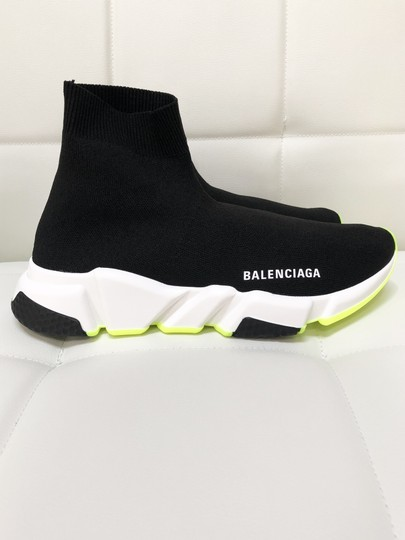 Balenciaga Speed Trainers Sneakers Speed Trainers Black and Neon Yellow Athletic Image 7