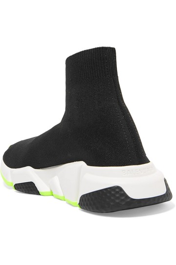 Balenciaga Speed Trainers Sneakers Speed Trainers Black and Neon Yellow Athletic Image 1