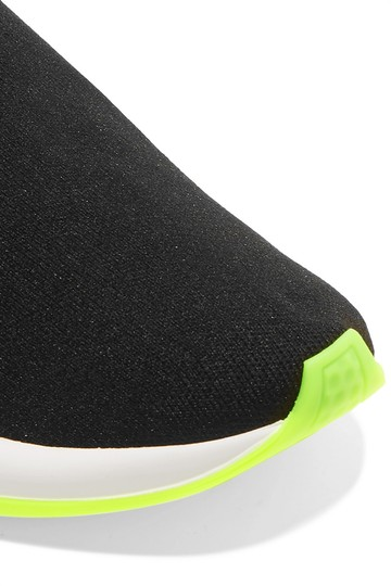 Balenciaga Speed Trainers Sneakers Speed Trainers Black and Neon Yellow Athletic Image 2