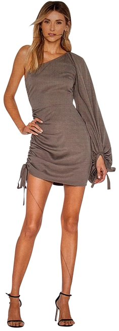 Item - Taupe Short Night Out Dress Size 8 (M)