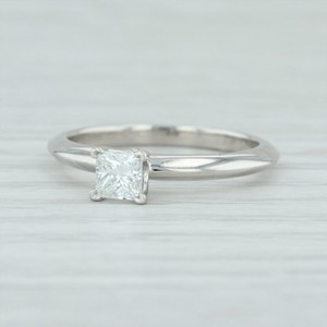 Tiffany & Co. Platinum Co .35ct Diamond 950 6 Princess Engagement Ring