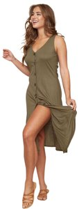 olive creen Maxi Dress by Peach Love California